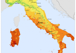 radiazione solare italia